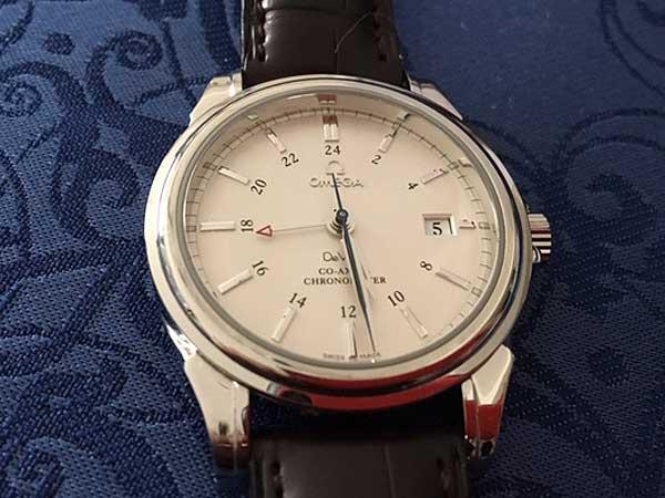buy online 73fd8 77035 オメガ デビル コーアクシャル GMT 自動巻き 未使用