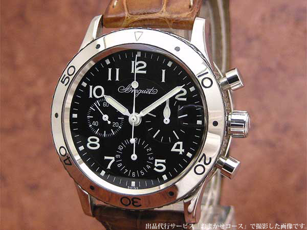 new concept 14116 09324 ブレゲ BREGUET アエロナバル タイプXX クロノグラフ Ref.3800 ...