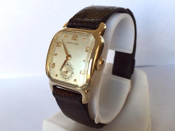 quality design 59f48 3504b ハミルトン 1950年代製 スクエアタイプ 手巻き式 アンティーク ...