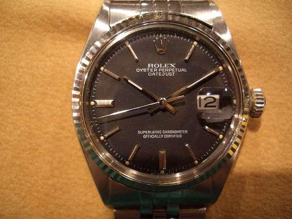 the best attitude 82f79 03687 ロレックス デイトジャスト Ref.1601 黒ダイアル | 時計の委託 ...