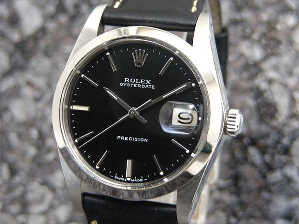 premium selection 4d377 d1722 ロレックス オイスターデイト Ref.6694 ブラックダイヤル Cal ...